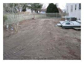 Sewer Line Backfilled