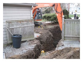 Digging Hole For Proposed Septic Tank